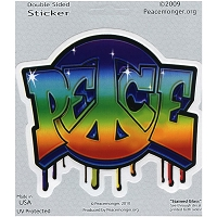 A336 - Graffiti Peace Art Decal Window Sticker