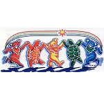 A343 - Grateful Dead Rainbow Critters Art Decal