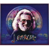 A351 - Jerry Garcia  at the Wetlands Art Decal Large Window Sticker 6.5