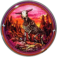 A362 -  Vintage Grateful Taurus Art Decal Zodiac Astrology Dead Skeleton Art Decal Window Sticker
