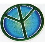 A369 - Batik Peace Sign Art Decal