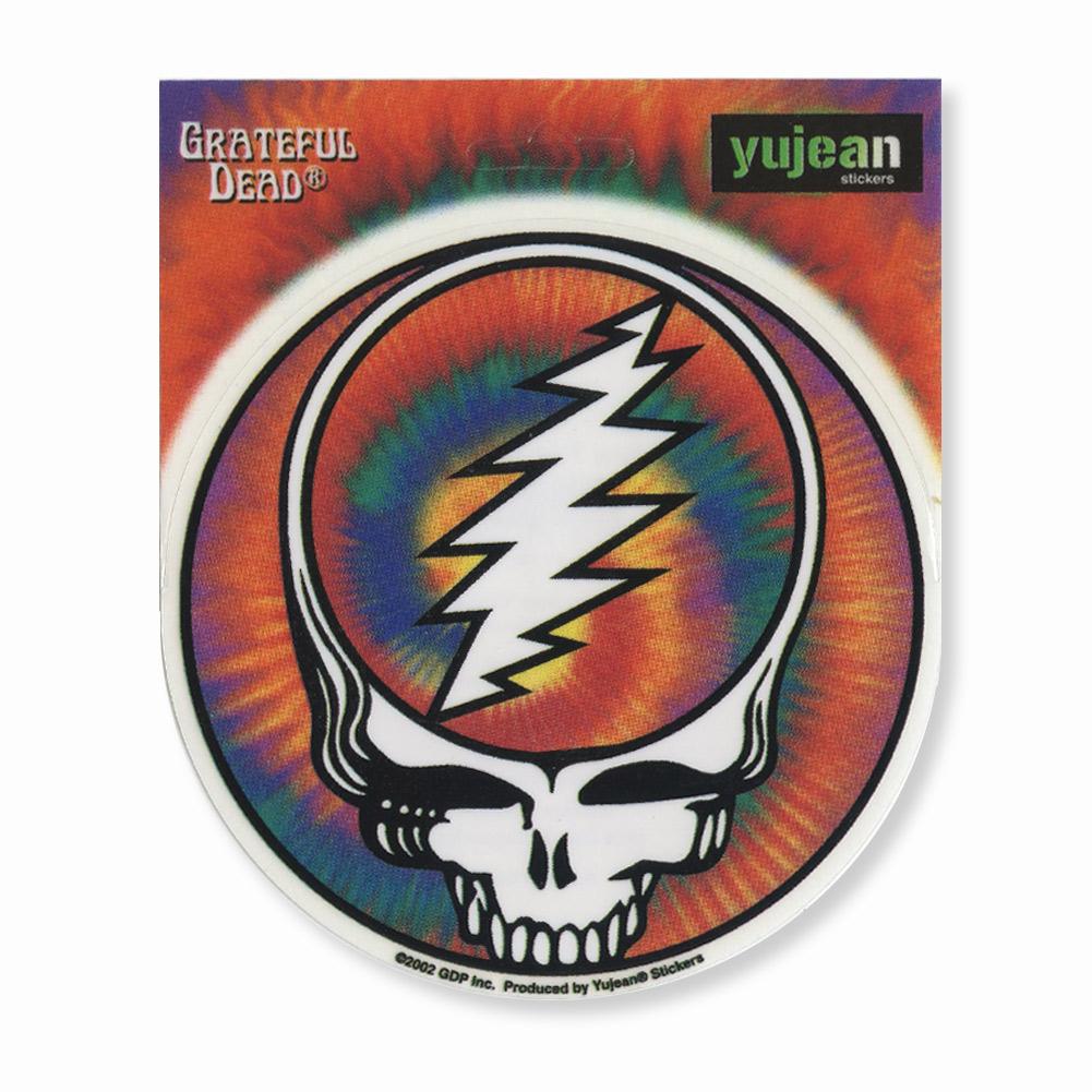 A423 Steal Your Face Rainbow Spiral Tie Dye Grateful Dead Art Decal