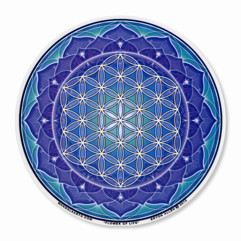 A435 Flower Of Life Yoga Meditation Lotus Mandala Bryon Allen Art