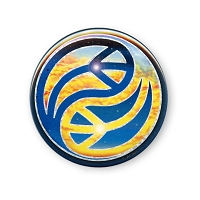 B002 - Yin Yang Day and Night Peace Symbols Button