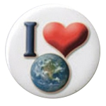B095 - I Love Earth Button