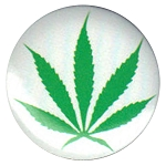 B110 - Marijuana Leaf Button