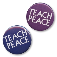 B312 - Teach Peace  Button
