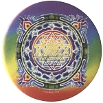 B457 - Sri Yantra Mandala Button