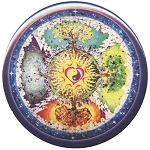 B459 - Four Seasons Mandala Button