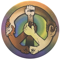 B460 - Hands of Peace Button