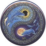 B461 - Dolphin Flight Yin Yang Button