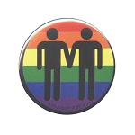 B463 - Gay Love LGBT Rights Rainbow Button