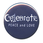 B465 - Celebrate Peace and Love Symbols Button