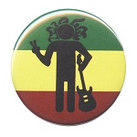 B467 - Rasta Man Peace Sign Button