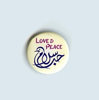 B481 - Love and Peace Dove Button