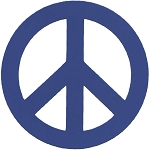 BM002 - Peace Sign Die Cut Bumper Magnet 6 inch