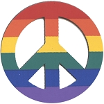 BM003 - Peace Sign Rainbow Die Cut Bumper Magnet
