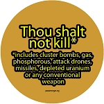 CM022 - Thou Shalt Not Kill Full Color Mini Sticker