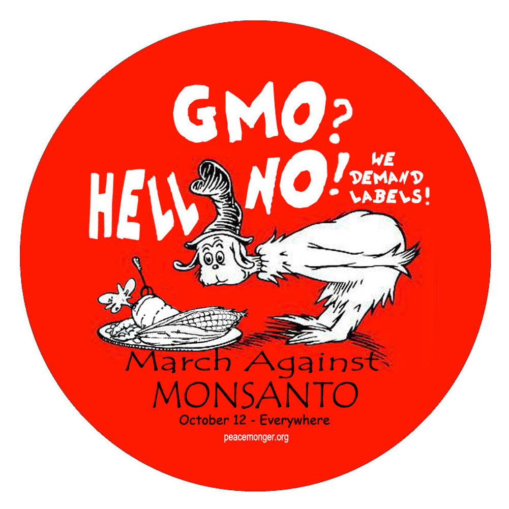Gmo hell no we demand labels button