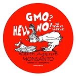 CM025 - GMO? HELL NO! We demand labels Mini Sticker