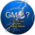 CM029 - GMO? ...It's not nice to fool Mother Nature Color Mini Sticker