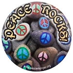 CM035 - Peace Rocks full color original Mini Sticker