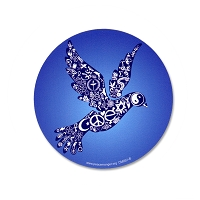 CM051 - Coexist Peace Dove Interfaith Color Mini Sticker