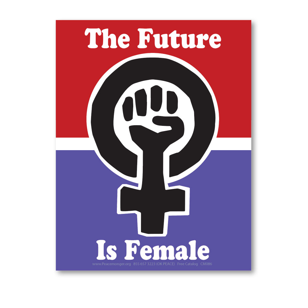 Cm086 The Future Is Female Womens March Protest Rally Sign Mini