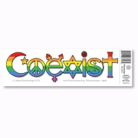CM155 Rainbow Coexist Transgender Interfaith Color Sticker