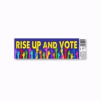 CM269 Rise Up and Vote Election Day Anti Trump Color Sticker