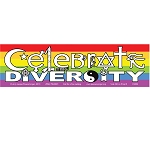 CM010 - Celebrate Diversity Interfaith Symbols Rainbow Full Color Mini Sticker