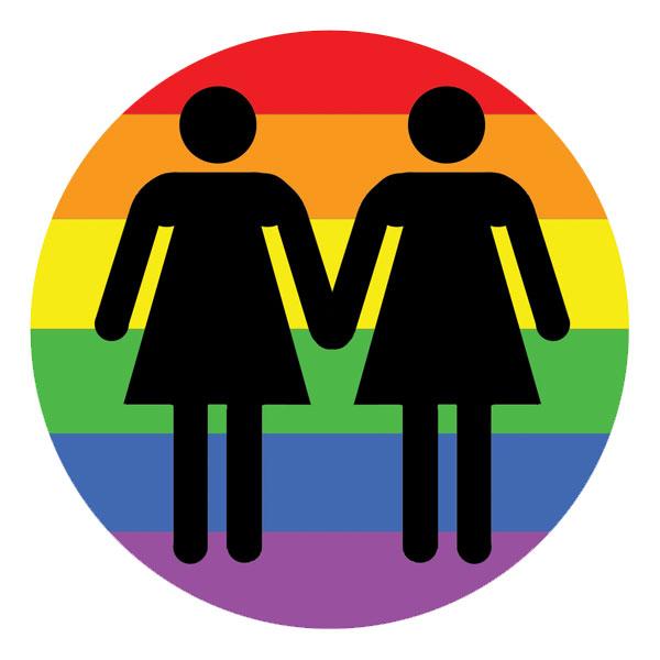 Lesbian Love LGBT Rights Rainbow Full Color Mini Sticker c83e7035e