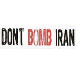 CS014 - Don't Bomb Iran Large Full Color Bumper Sticker