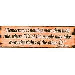 CS015 - Democracy is Nothing Large Full Color Bumper Sticker