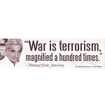 CS016 - War is Terrorism Large Bumper Sticker
