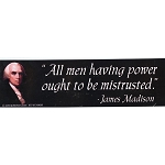 CS017 - All Men Having Power Large Full Color Bumper Sticker