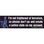 CS024 - Police State Large Full Color Bumper Sticker