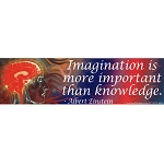 CS031 - Imagination is More Large Full Color Bumper Sticker