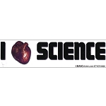 CS062 - I Heart Science Large Full Color Bumper Sticker