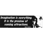 CS068 - Imagination is Everything Large Full Color Bumper Sticker