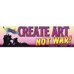 CS101 - Create Art Not War Color Bumper Sticker