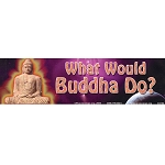 CS102 - What Would Buddha Do Color Bumper Sticker