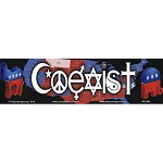 CS106 - Coexist Political Color Bumper Sticker