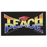 CS120 - Teach Peace Full Color Sticker