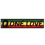 CS123 - Bob Marley One Love Rasta Bumper Sticker