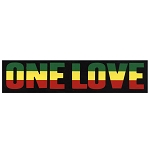 CS124 - One Love Rasta Full Color Bumper Sticker