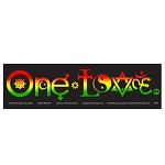 CM002 - One Love Symbols Rasta Full Color Mini Sticker