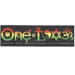 CS125 - One Love Symbols Rasta Full Color Bumper Sticker