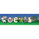CS131 - Vegetarians Coexist Full Color Bumper Sticker