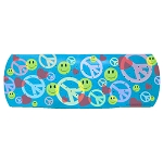 CS133 - Peace, Love, Happiness Bandaid Full Color Bumper Sticker
